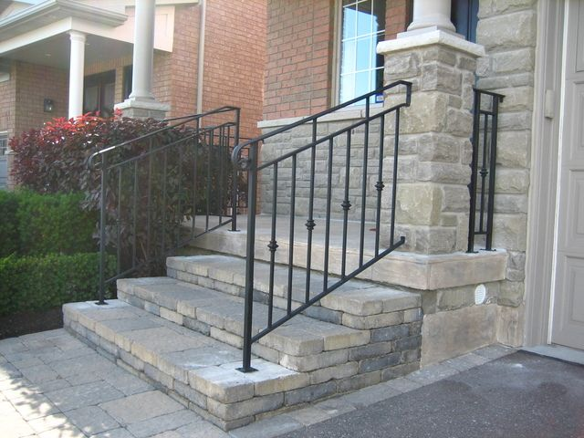 Paver steps porches and front entryways pinterest front interlock front steps walkway and driveway border solutioingenieria Choice Image