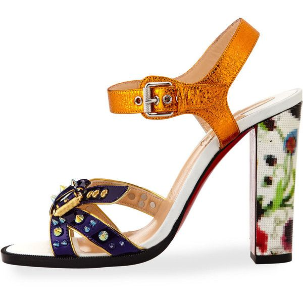 26d18bd927ba Christian Louboutin Miss Roma Buckle 100mm Red Sole Sandal