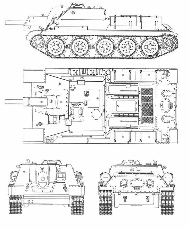 чертежи танков фото поливаю