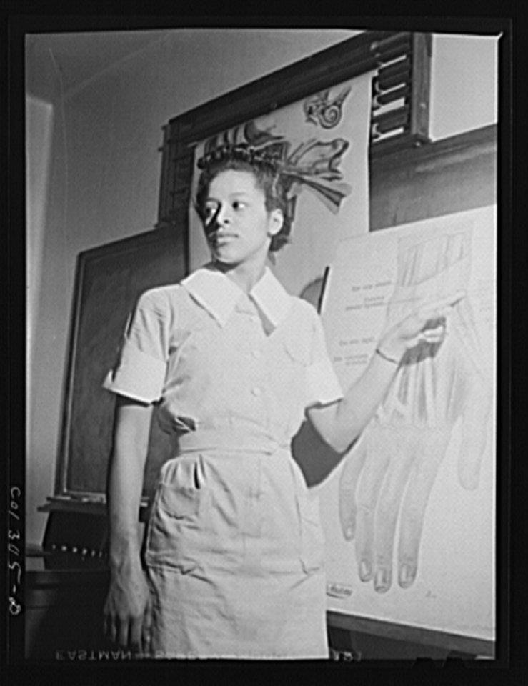Nursing student, Miss Catherine Brown, Illinois 1942