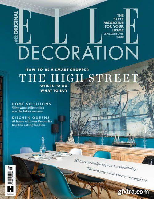 elle decoration uk september 2015 home decor pinterest
