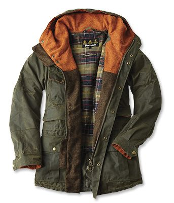 mens barbour wax jacket small