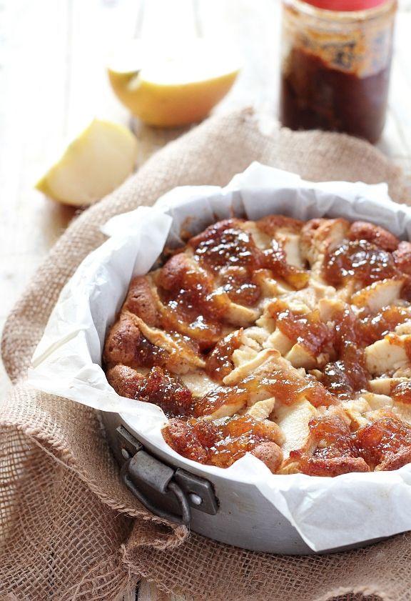 Torta integrale alle mele con confettura di fichi (senza latticini)