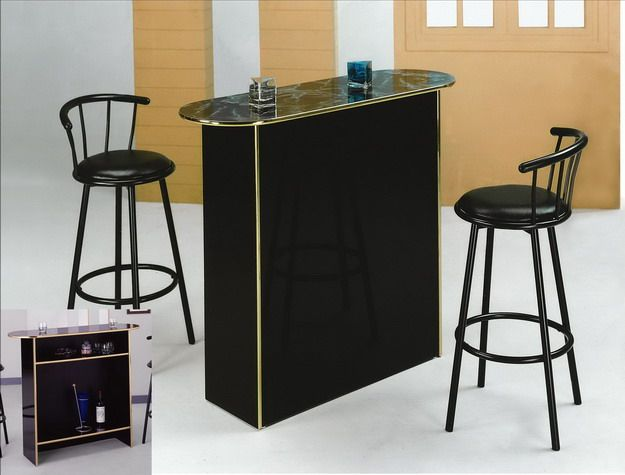 Crown Mark   Poly Marble Bar Table From National Furniture Liquidators, El  Paso, Tx