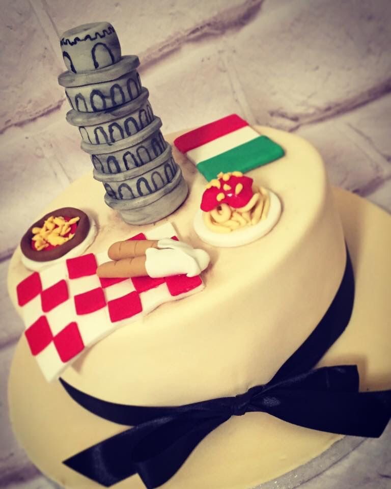 Italian Flag Cake My Cakes Pinterest Italian flags Flag