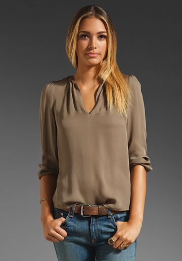 JOIE Pearline Blouse in Smokey Topaz ....so me