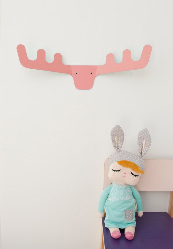 Wall Coat Rack Nursery Gift Gifts Deer Head Hooks Modern Kids Scandinavian Decor Design The