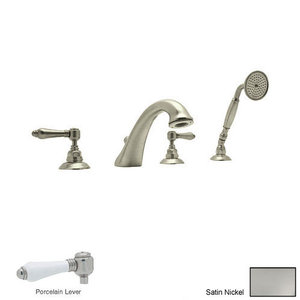 Rohl A1464lpstn Country Bath Roman Tub Faucet And Single Function