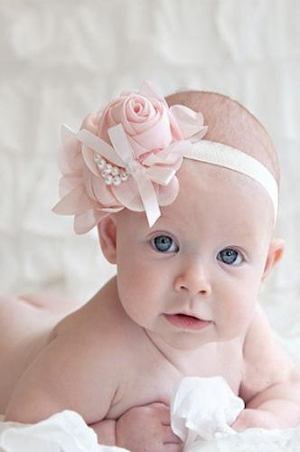 Kids Headband Pearl Floral Girl Elastic Hairband Photography Hair Accessories