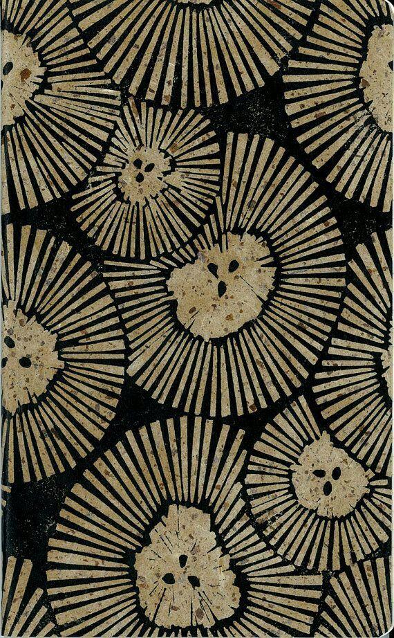 graph paper journal chrysanthemum cover block printed cover