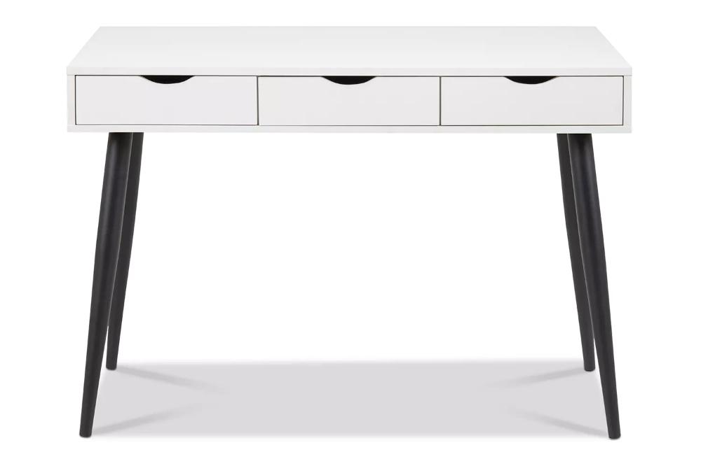 Bea Desk White Black Legs In 2020 White Desks Desk Home