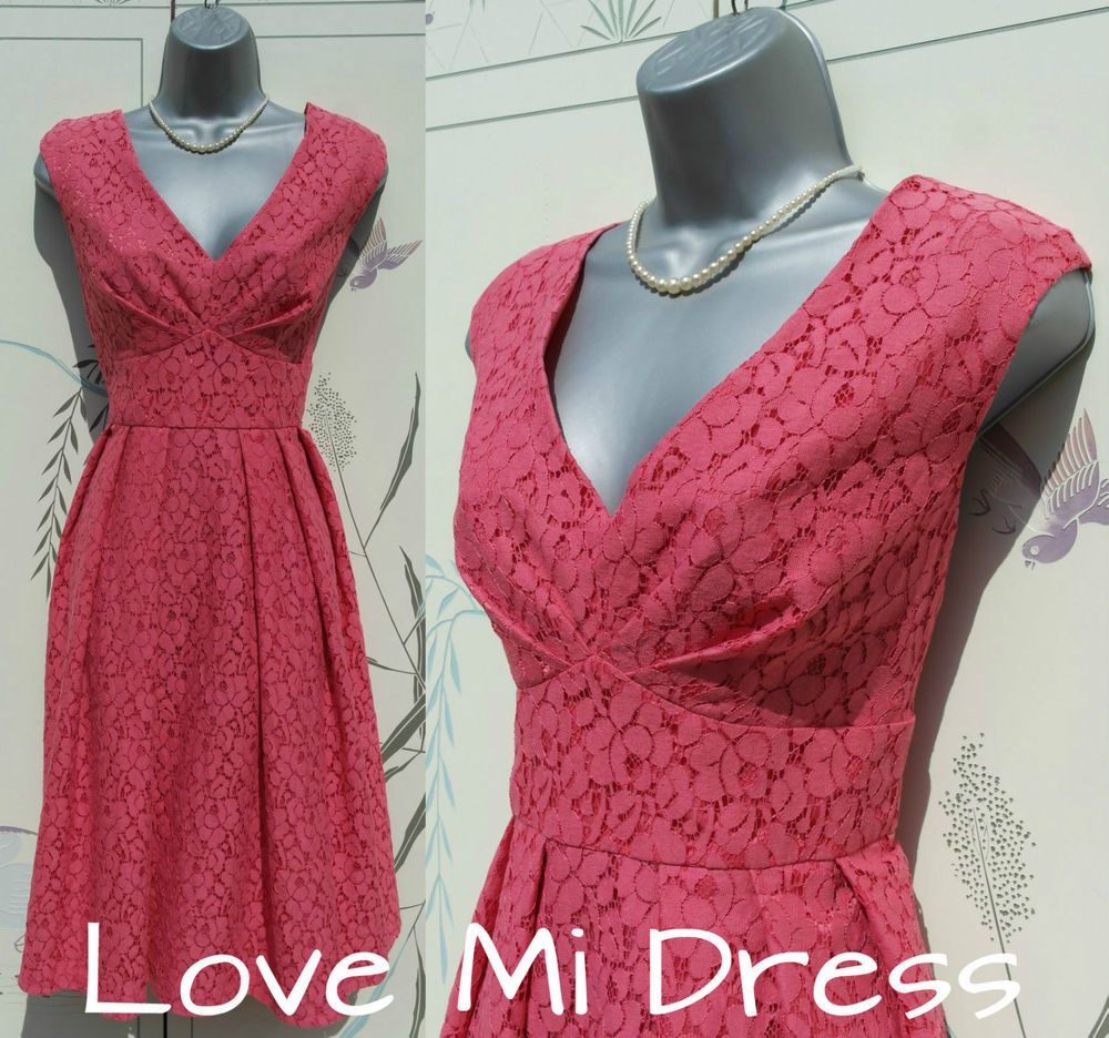 Gorgeous us us style fit unu flare lace teaevening dress sz
