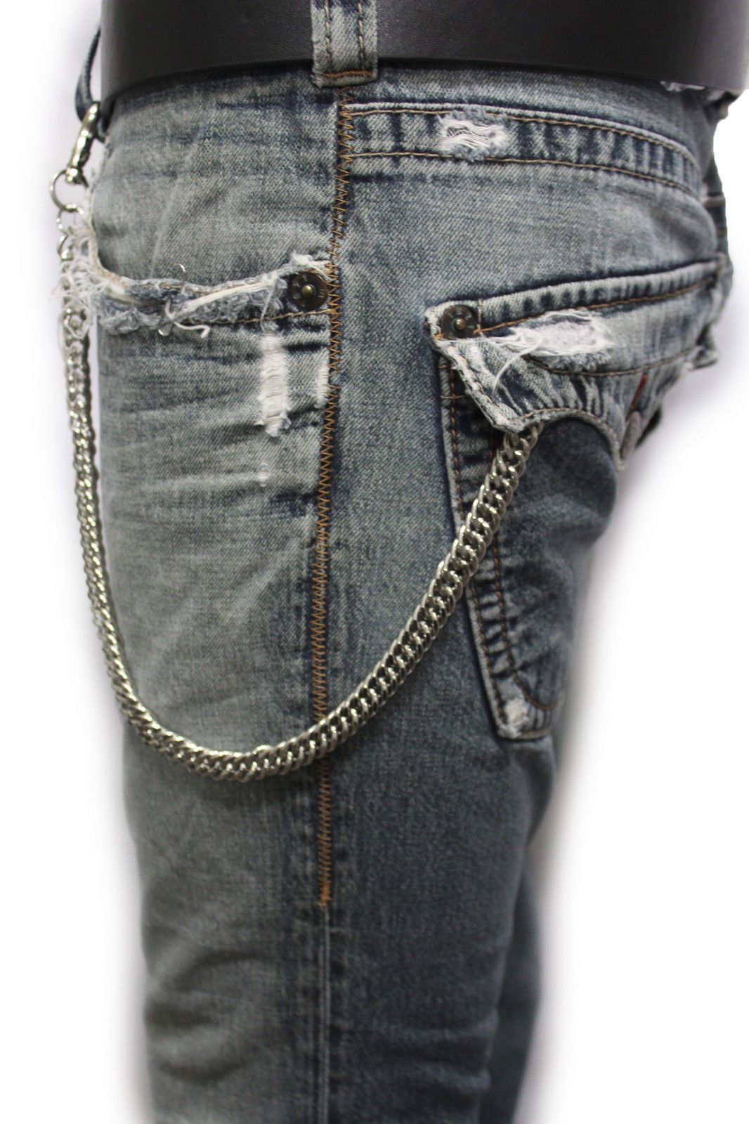Men Gold Metal Key Wallet Chain Ring Links Jeans Holder Biker Fashion Jewelry