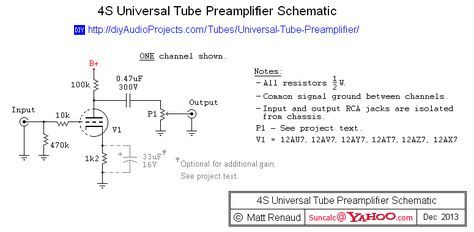 4s Universal Tube Preamplifier Schematic