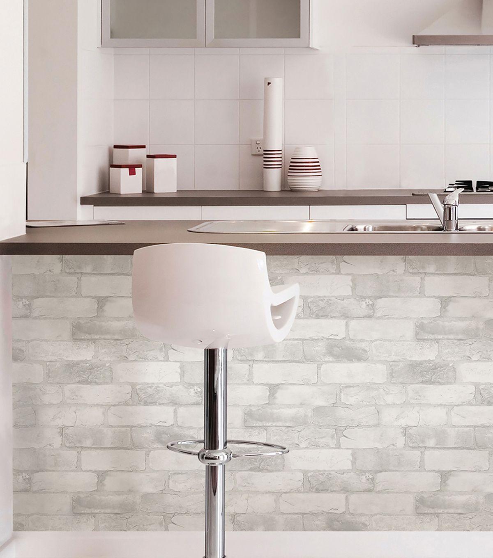 WallPops NuWallpaper 3D Peel & Stick Wallpaper Brick