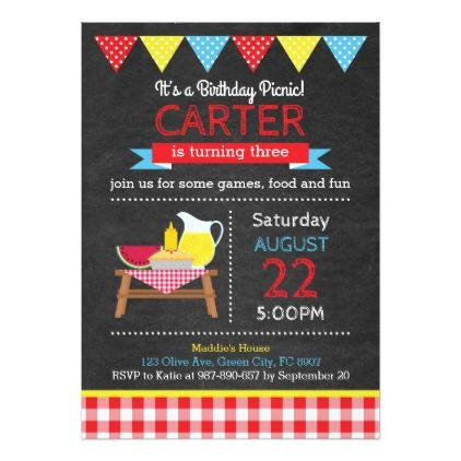Picnic birthday invitation birthday invitations birthday picnic birthday invitation birthday invitations filmwisefo