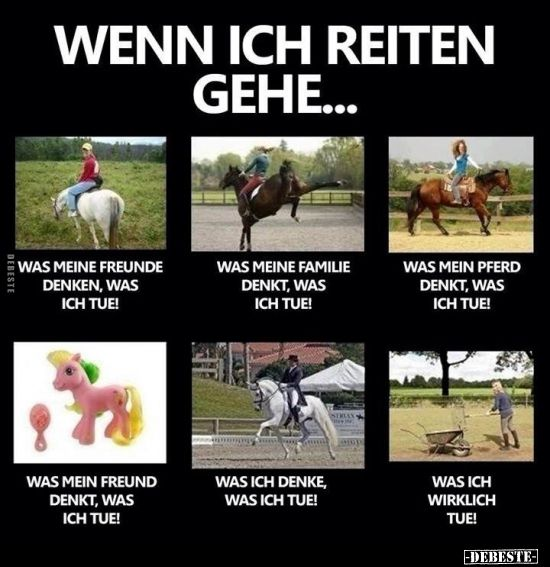 Photo of Wenn ich reiten gehe ..