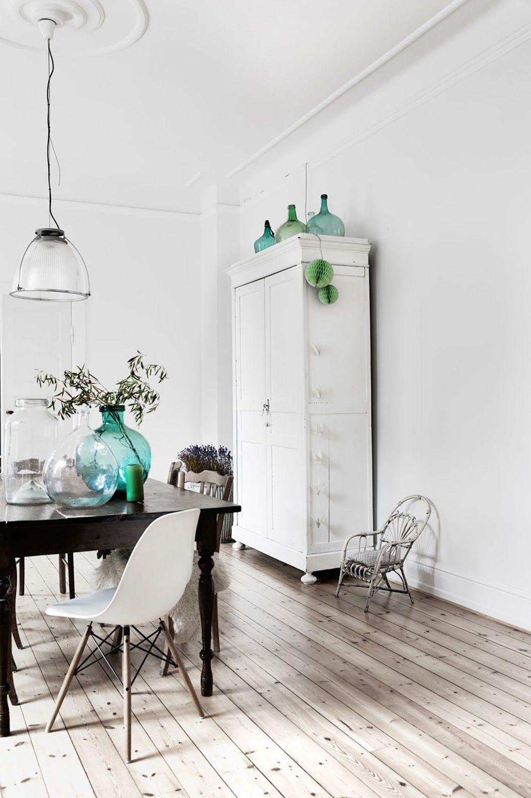 spacious scandinavian interior, dining room, home decor, eames chair ...