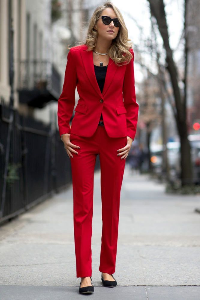 Suits & Sets Strong-Willed Lake Blue Women Business Suits Formal Office Suits Work Slim Fit Female Touser Suit Ladies Formal Wear 2 Piece Suits Custom Made Clients First