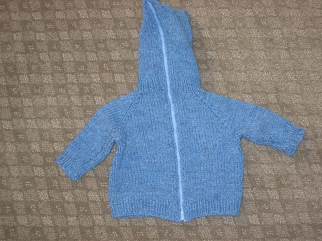 cc3514525606 Back Zipper Baby Sweater with Hood pattern by Randy Chris