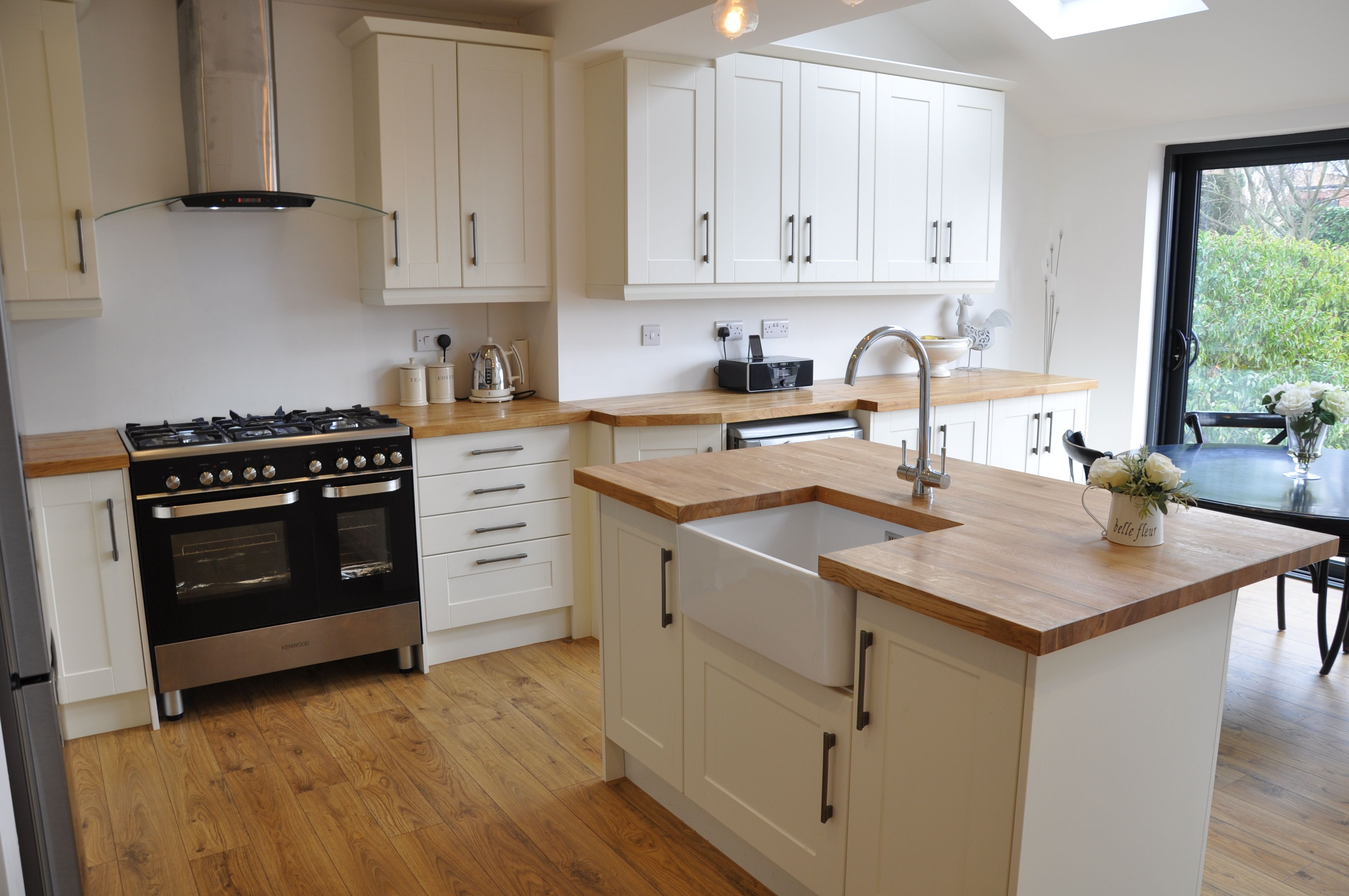 Image Result For Butcher Block And White Appliances Kitchen