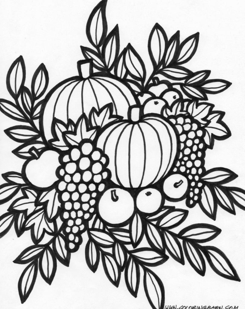 Thanksgiving arrangement coloring page | Art_Color My World | Pinterest