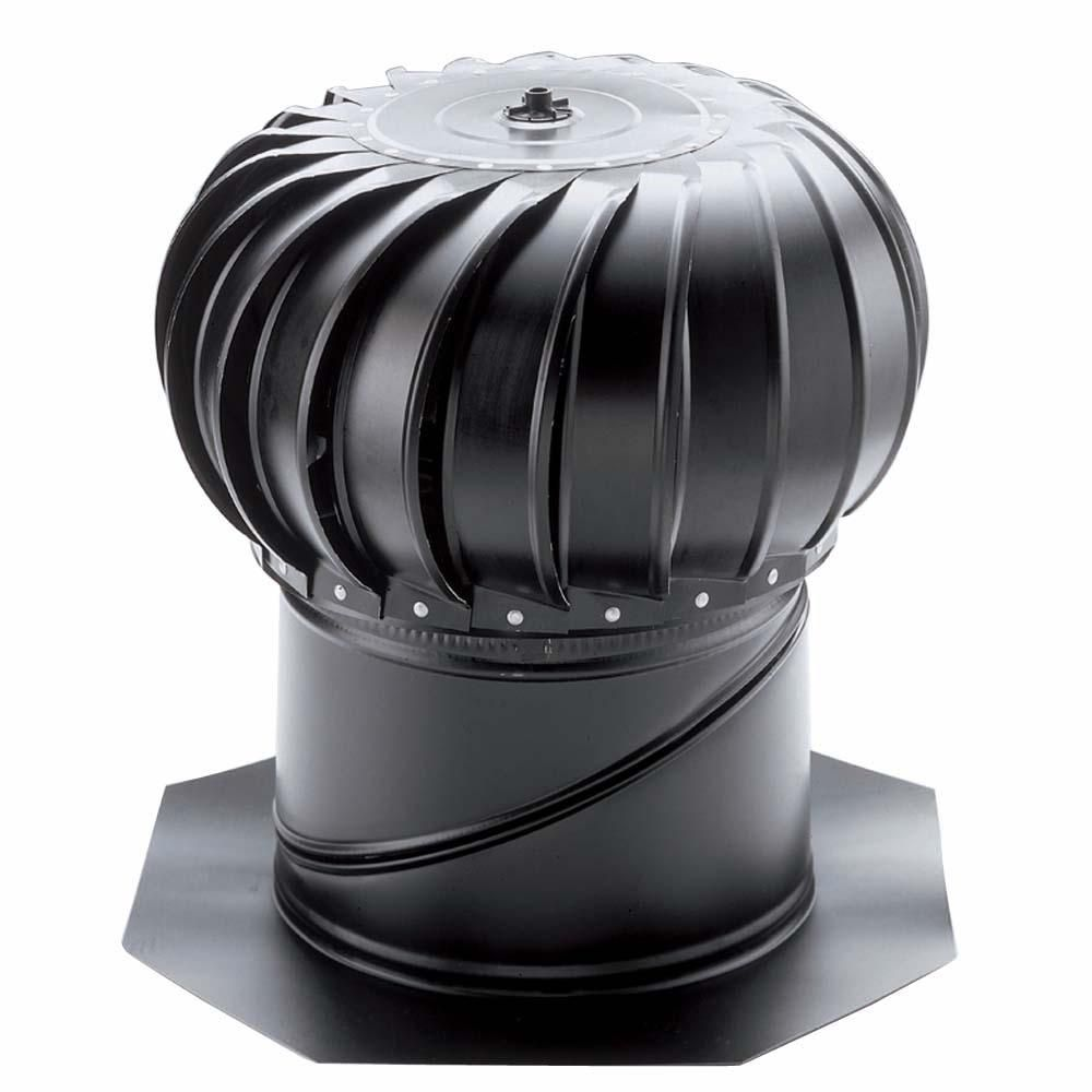 Air Vent 12 In Black Aluminum Internally Braced Wind Turbine Tib12sbl The Home Depot Metal Roof Roofing Wind Turbine