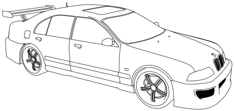 Bmw M5 Sport Tuning Car Coloring Page Cars Coloring Pages Sports Coloring Pages Coloring Pages Winter