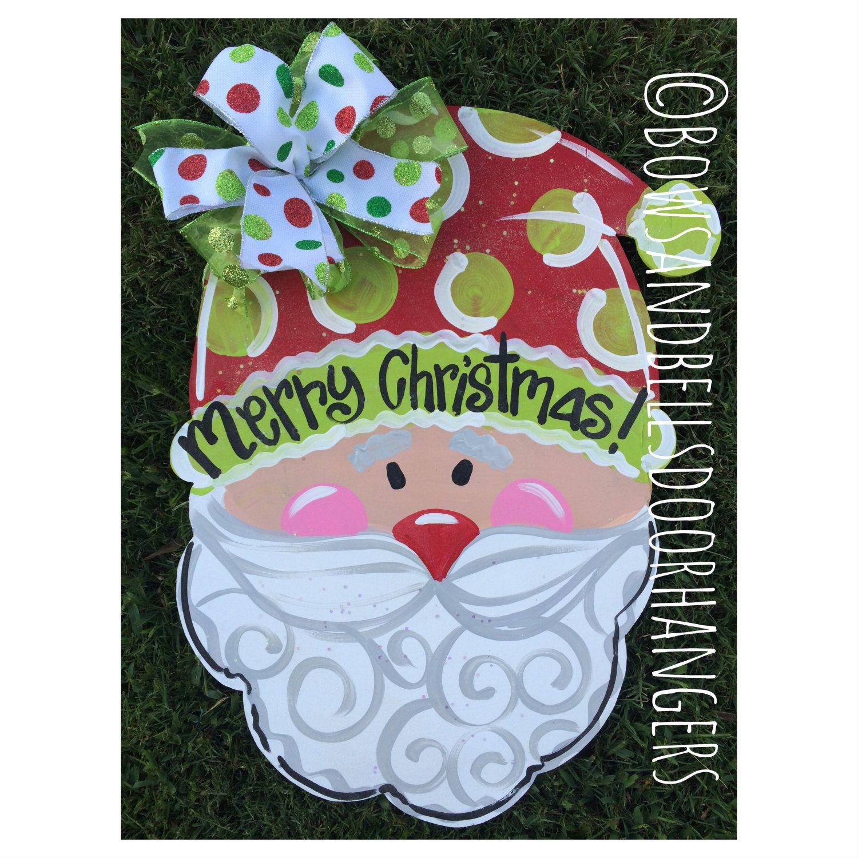 Christmas door hanger winter wreath mason by BowsandBellsHangers  sc 1 st  Pinterest & Christmas door hanger winter wreath mason by BowsandBellsHangers ...