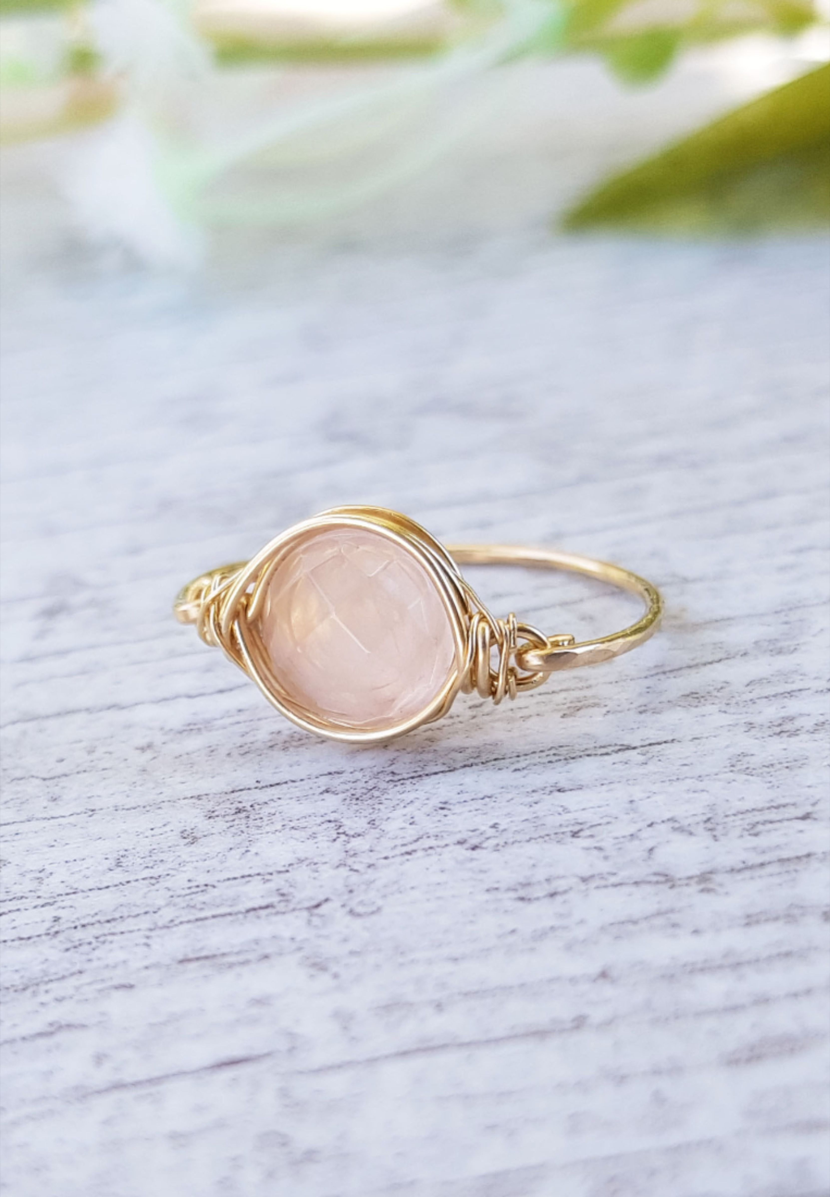 Ring For Women Quartz Jewelry Rose Quartz Ring Engagement Ring ALL SIZE Ring Jewelry PROMISE Ring Gemstone Ring Ring For Her