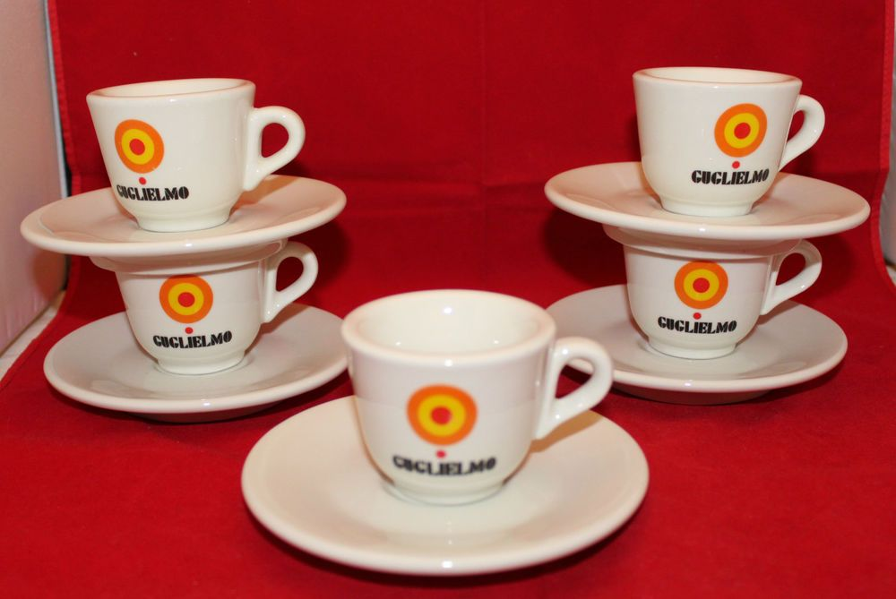 Acf Guglielmo Set Of 5 Demitasse Espresso Coffee Cups