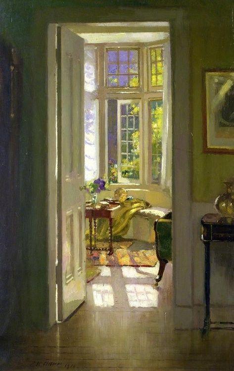 'Interior, Morning'by Patrick William Adam. Oil on canvas.