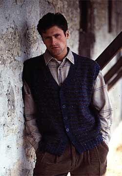 6b1ff9a41 Free Knitting Pattern - Men s Vests  Country Gentleman Vest ...