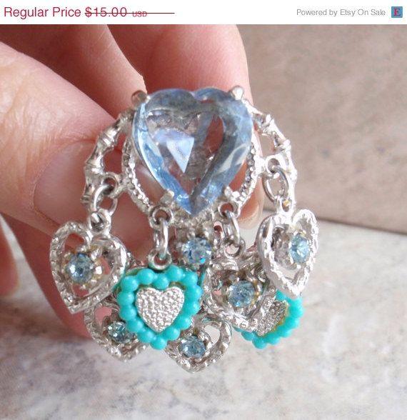 Blue Heart Clip On Earrings Art Arthur Pepper Mode by cutterstone