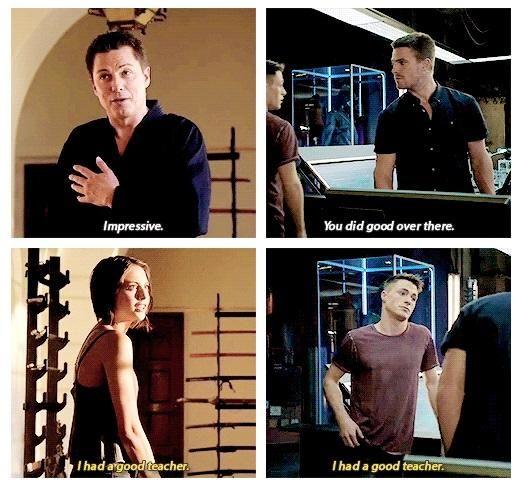 """Arrow - Roy, Thea, Malcolm and Oliver #Season3 """"I had a good teacher"""""""