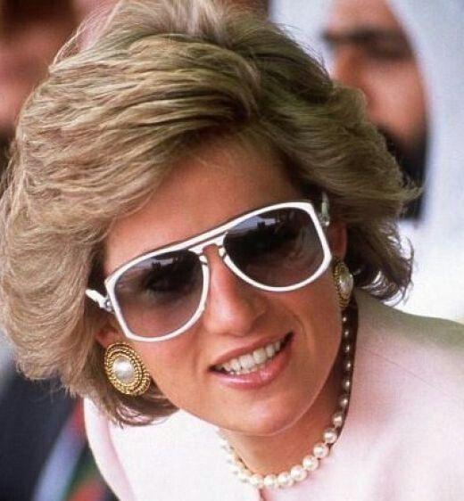 Princess Diana with her sunglasses