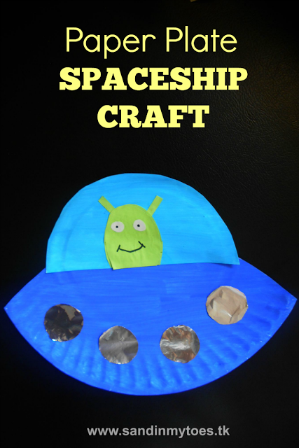 Busy Hands Paper Plate Spaceship Space crafts for kids