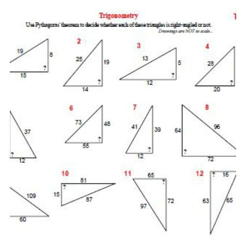 Trigonometry Worksheet (Sin, Cos, Tan) | Sin cos, Trigonometry and ...