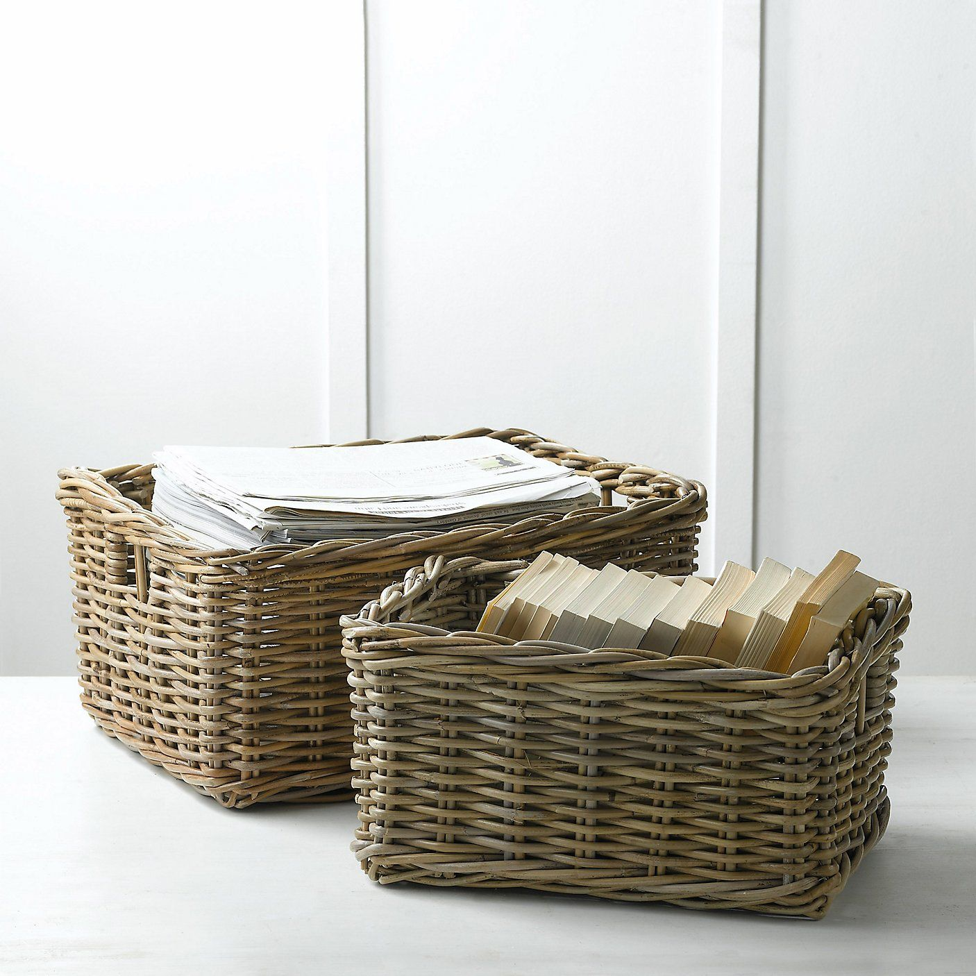 Kubu Basket  Set Of 2 - The White Company
