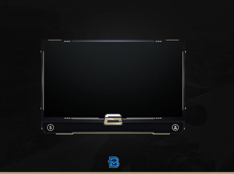 Crimsix Stream Overlay By Brandyndzn On Dribbble Overlays Streaming Flatscreen Tv