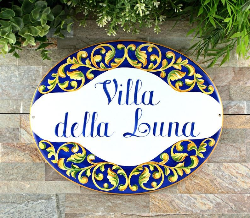 Talavera Ceramic House Plaque Custom Signs For Villa Spanish Style