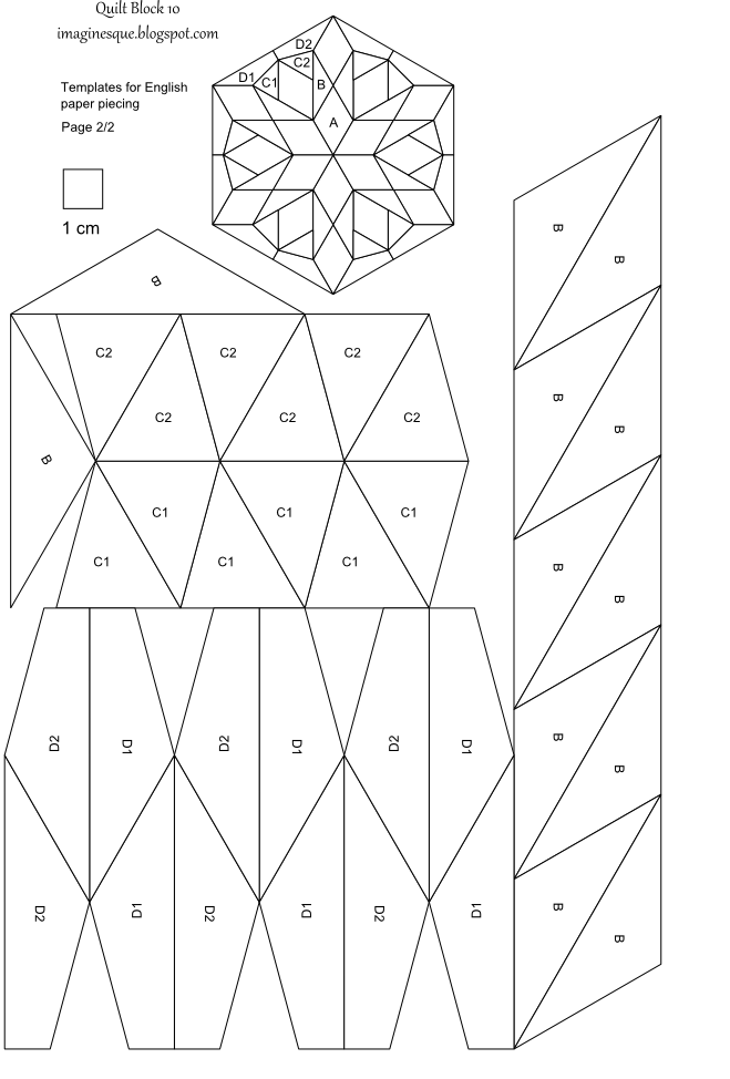 imaginesque free quilt block patterns and templates | Cross stitch ... : paper quilt template - Adamdwight.com