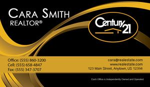 Century 21 business cards gold and black business cards all cards century 21 business cards gold and black business cards all cards customized and set flashek Choice Image