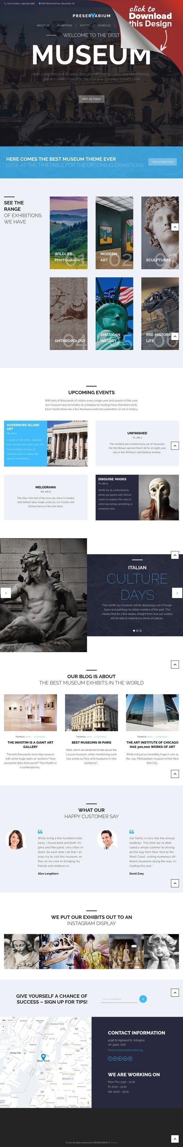 Tema de WordPress para Sitio de Museos Plantillas para CMS y Blogs ...