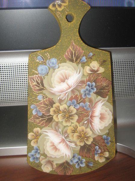 роспись-очень красивые цветы. Обсуждение на LiveInternet ...