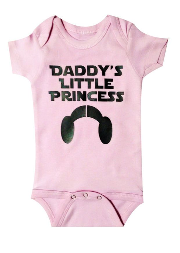 d5aeb6365 Star Wars Baby Daddys Little Princess, Princess Leia, Baby Clothing, Baby  Clothes, Newborn gift,