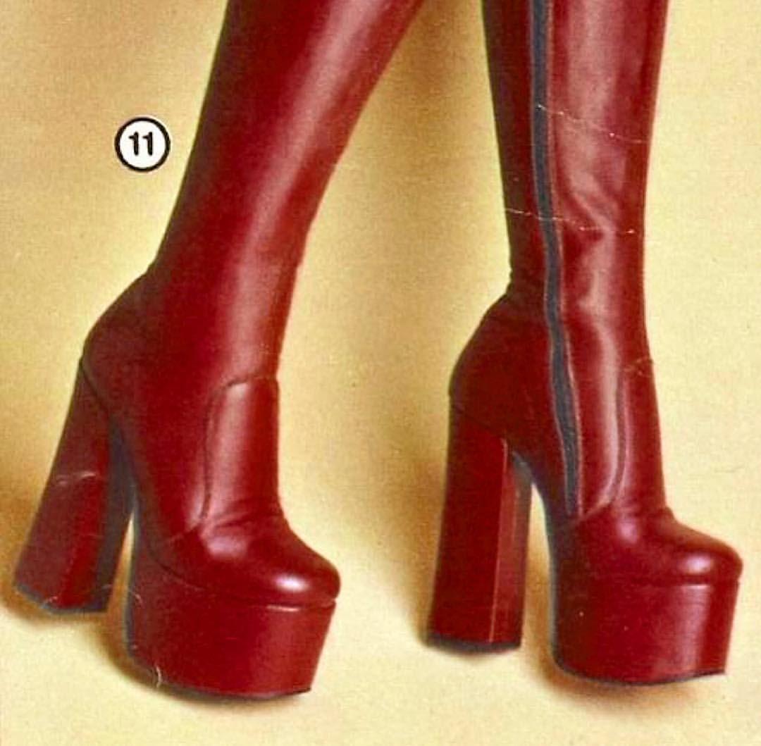 70er jahre stiefel damen