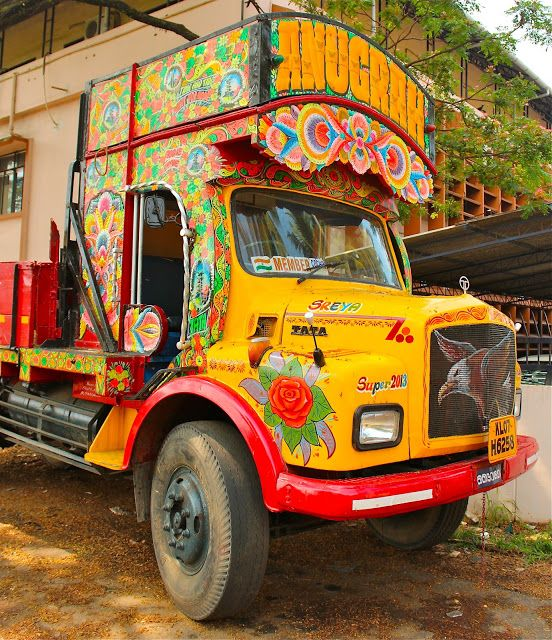 What Places Cannot Be Missed In North Kerala: Curly Traveller: Kerala Truck Art The Trucks In Kerala Are