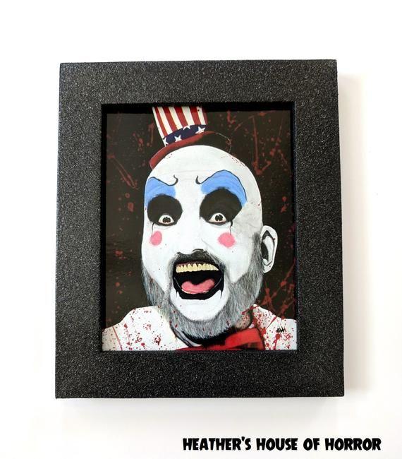 Custom Hand Painted Framed Art Print Captain Spaulding House Of