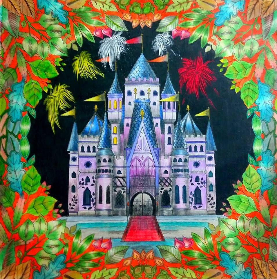 Castle Leaves Enchanted Forest Castelo Floresta Encantada Johanna Basford
